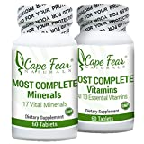 Cape Fear Naturals Most Complete Minerals & Vitamins Package, Includes 13 Vitamins & 17 Minerals, 60 caplets each Review
