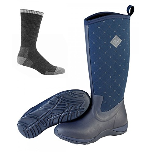 Muck Boot Muck Arctic Adventure Boots Navy Quilt w/Socks - by Muck Boot