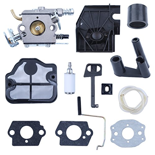 (Haishine Carburetor Air Filter Intake Manifold Choke Rod for Husqvarna 136 136LE 137 137e 141 141LE 142 142e 36 41 Chainsaw New)
