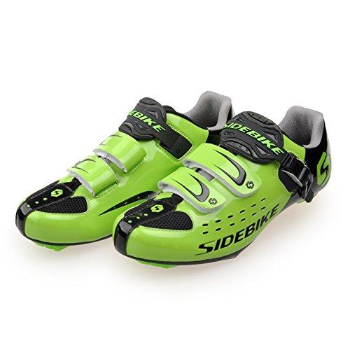 Smartodoors MTB / Road Cycling Schuhe Racing Cycle Schuhe für Männer Frauen SD01-Road-Schwarz / Grün