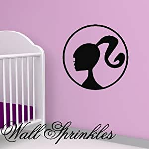 "Barbie Vinyl Wall Art decal decor 22"" x22"""