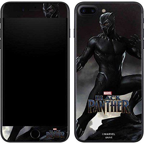 Skinit Black Panther Ready for Battle iPhone 8 Plus Skin - Officially Licensed Marvel/Disney Phone Decal - Ultra Thin, Lightweight Vinyl Decal Protection