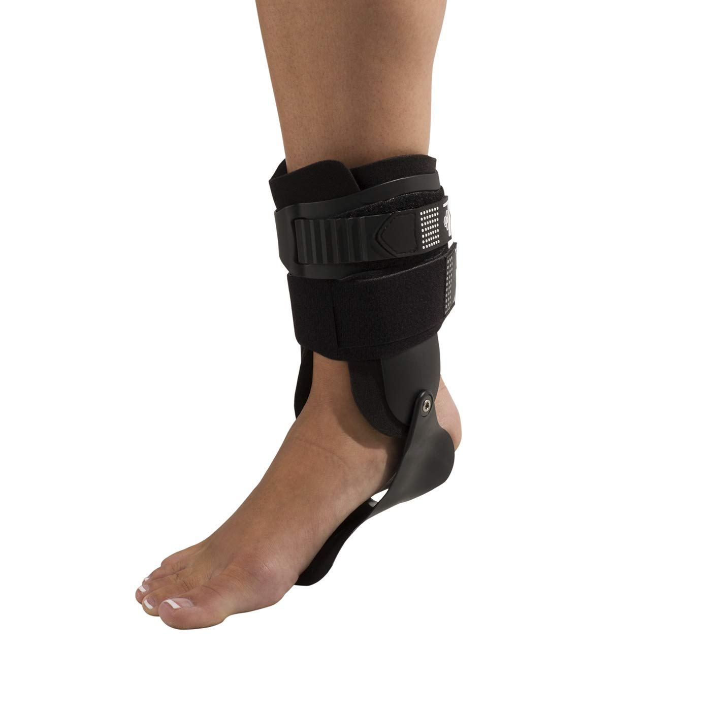 DonJoy Performance Bionic Stirrup Ankle Braces (Right and Left Pair), Maximum Medial Lateral Ankle Support, Low-Profile Rigid Brace, Adjustable - Black, Medium - Value Bundle by DonJoy Performance (Image #2)
