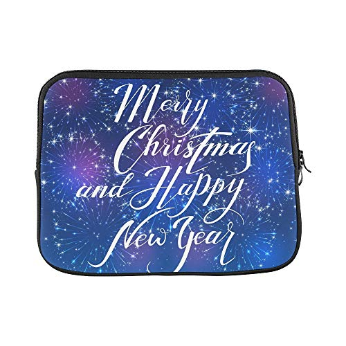 Design Custom Lettering Merry Christmas Happy New Year Sleeve Soft Laptop Case Bag Pouch Skin for MacBook Air 11