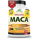 Organic Maca Root Black, Red, Yellow 950MG per capsule 150 vegan capsules Peruvian Maca