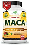 Best Maca Powders - Organic Maca Root Black, Red, Yellow 950MG per Review
