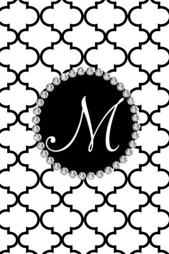 Download M: White and black moroccan monogram initial M Journal PDF