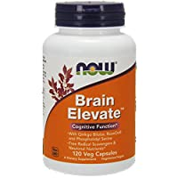 Now Foods Brain Elevate Formula Veg Capsules, 120 Count , Pack of 2