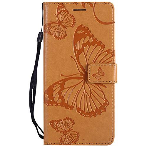 Lomogo Coque Xiaomi Mi 5X / Mi A1, Housse en Cuir Portefeuille avec Porte Carte Fermeture par Rabat Aimant Anti Choc Etui de Protection pour Xiaomi Mi5X / MiA1 - LOKTU22784 Vert Jaune