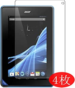 "【4 Pack】 Synvy Screen Protector for Acer Iconia Tablet B1-A71 7"" Tab TPU Flexible HD Clear Case-Friendly Film Protective Protectors [Not Tempered Glass] New Version"