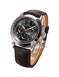 KS Navigator Series Luxury Automatic Mechanical Day Date 24Hour Men's Wrist Watch KS124 Black