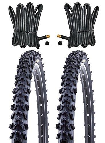 2 x Kenda MTB Reifen Fahrradreifen 26 Zoll 50-559 26 x 1.95 inklusive 2 x Schlauch mit Autoventil