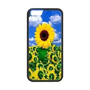 iPhone 6 Protective Case - Sunflower Hardshell Cell Phone Cover Case for New iPhone 6