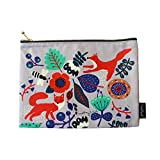 MallangLuna Canvas Pencil Pouch Cotton Handmade Pouch for Pencil, Pen, Cosmetics, Travel (Shiny Day : Grey)