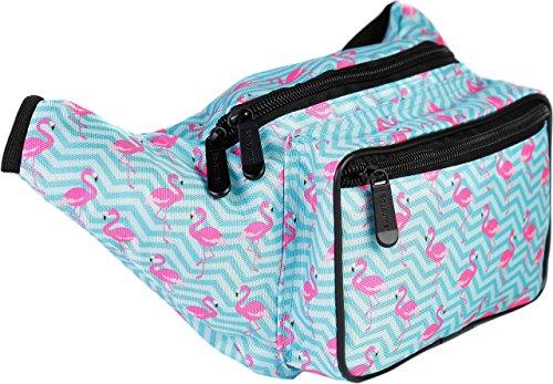 SoJourner Bags Fanny Pack - Floral, Flower, Animal Prints (Flamingo)