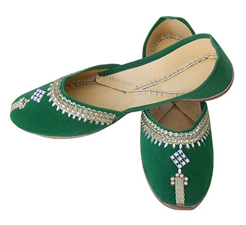 5e7dce07279a05 good Kalra Creations Women s Traditional Velvet With Sequence Work Ethnic  Shoes