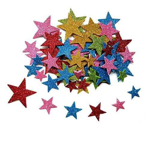 Aoyoho Multicolor Self Adhesive Star Shape Foam Stickers For Christmas New Year Rom Decorate(Approx 340pcs)