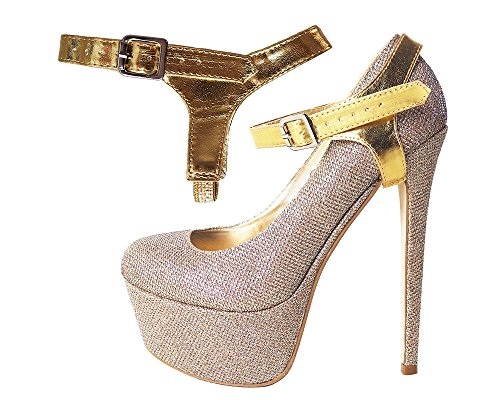 ps - to hold loose high heeled shoes Single Gold (Single Strap High Heel Shoe)