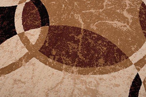 Tapiso Dream Teppich Wohnzimmer Wohnzimmer Wohnzimmer Modern Kurzflor Braun Beige Bernstein Meliert Kreise Streifen Schlafzimmer Gästezimmer Esszimmer ÖKOTEX 300 x 400 cm B075NN611W Teppiche b10cb5