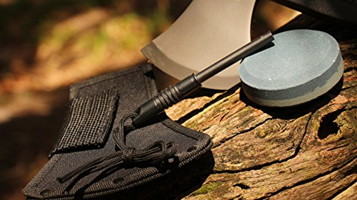 Schrade SCAXE2L 15.7in Large Survival Axe with 4.2in Stainless Steel Blade and Glass Fiber PA and TPR Rubber Handle for Outdoor Survival Camping and Everyday Tasks by Schrade (Image #6)