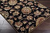 Surya Caesar CAE-1027 Classic Hand Tufted 100% Wool Coal Black 2'6'' x 8' Traditional Runner