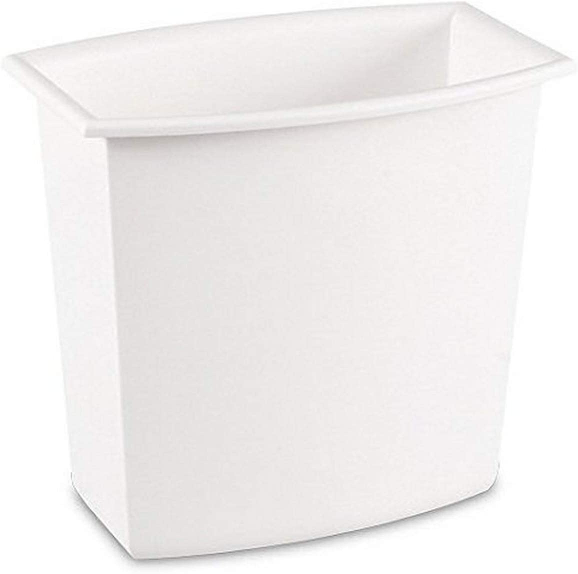 Amazon Com Sterilite Corp 10220012 Rectangular Vanity Wastebasket 2 Gallons Assorted Colors Home Kitchen