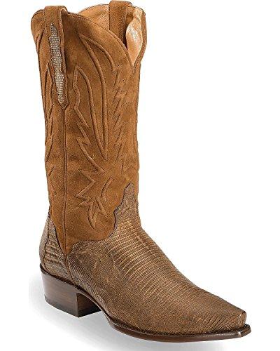 Léopard Hommes Hommes Lézard Tabac Cowboy Boot Snip Toe Brun 9.5 Ee