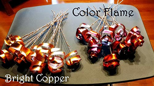 Set of 3 Bright Copper Forever Roses #813'' I Love You'' Steampunk - Wedding Prom Graduation 7th Anniversary Regalo de Aniversario Hanukkah Kwanzaa Valentine's Mother's Day Christmas Gift ! by Refreshing Art (Image #5)'