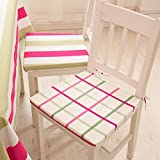 Simple fresh and modern dining chair cushion/Zipper removable and washable cotton sponge chairs-A 40x40cm(16x16inch)