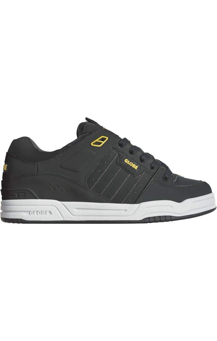 Globe Men's Fusion Skate Shoe, Black/Yellow, 10.5