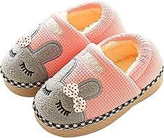 SITAILE Mädchen Winter Hausschuhe Jungen Pantoffeln Kinder Slippers Schuhe mit Plüsch gefüttert Wärme Weiche rutschfeste...