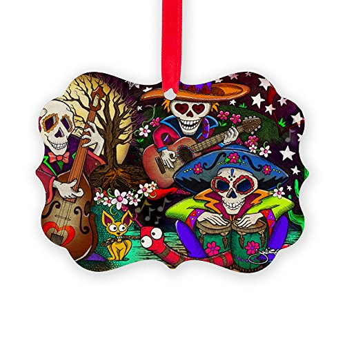 Ornament Mexican Folk Art - CafePress Day of The Dead Music Art by Juli Christmas Ornament, Decorative Tree Ornament