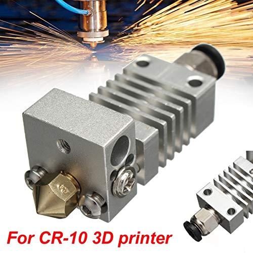 3D Printer - New 0.4mm Aluminum Alloy Upgrade CR10 Extruder Titanium Alloy Heater Break 1.75MM for CR-10 Printer High Temperature