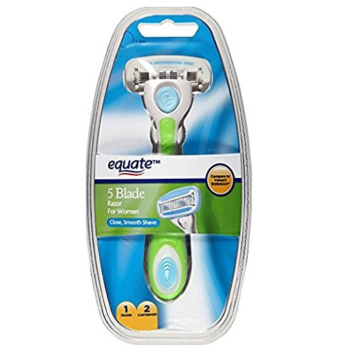 Equate 5 Blade Razor for Women, 3 pc - Compare to Venus Embrace (2pack)