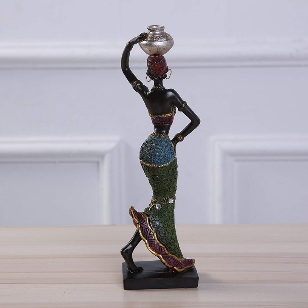 GJXDHWZ statue Resin Craft Sculpture Home Decoration Accessories African Statue Resin Statue Ornaments African Woman Staue Creative Sculpture,style.1