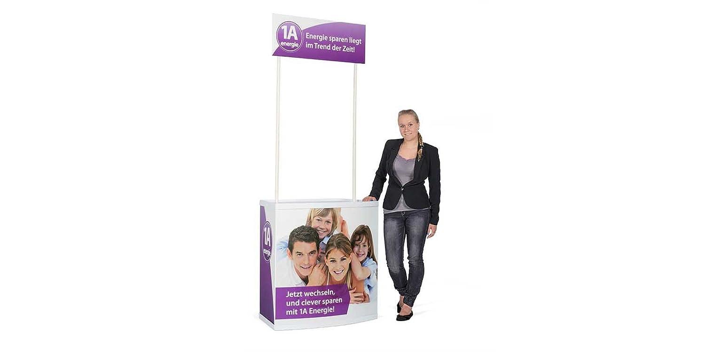 PROMOZIONE bancone con topschild con stampa e tasche, Fiera, Banco Bancone pubblicitario Easydisplay