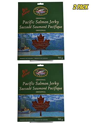 Wild Caught Canadian Smoked Salmon Jerky 2 Pack Seafood Fish Jerky From Pacific British Colmubia (Fish Chum Salmon)