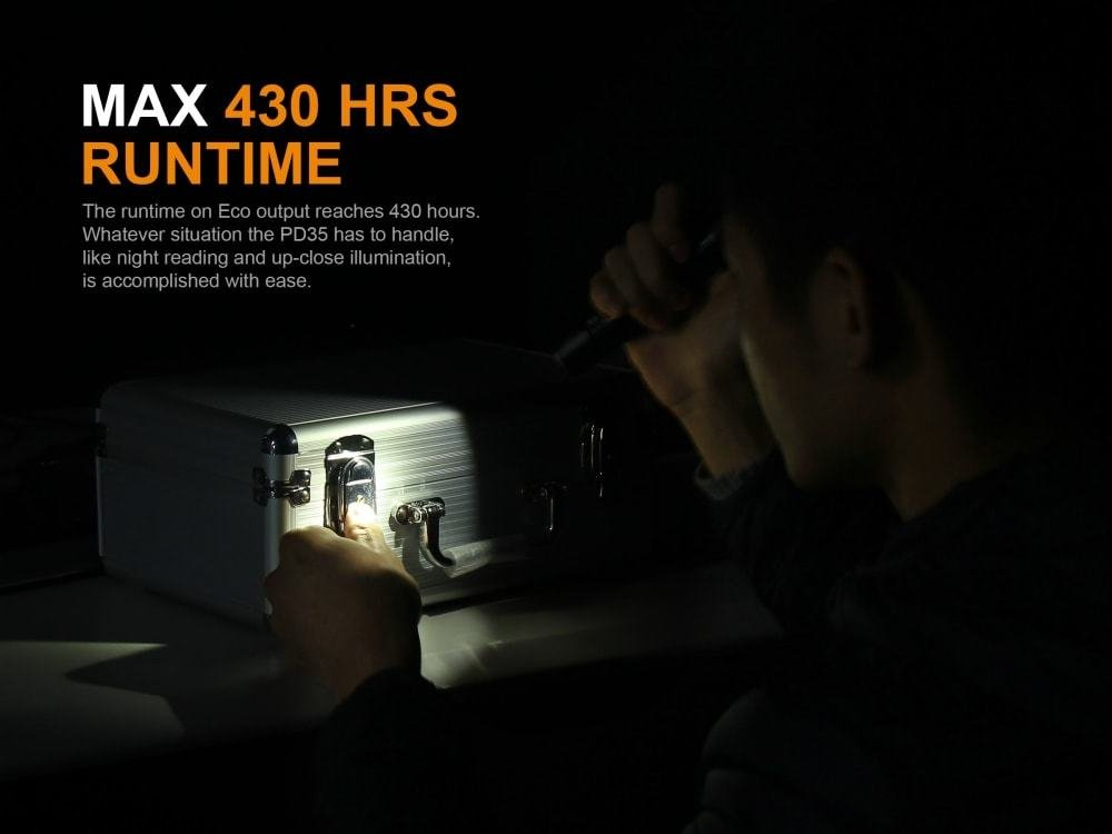 Fenix PD35 V2.0 2018 Upgrade 1000 Lumen Flashlight with Fenix 2600mAh Built-in USB Rechargeable Battery & LumenTac Charging Cable by Fenix (Image #5)