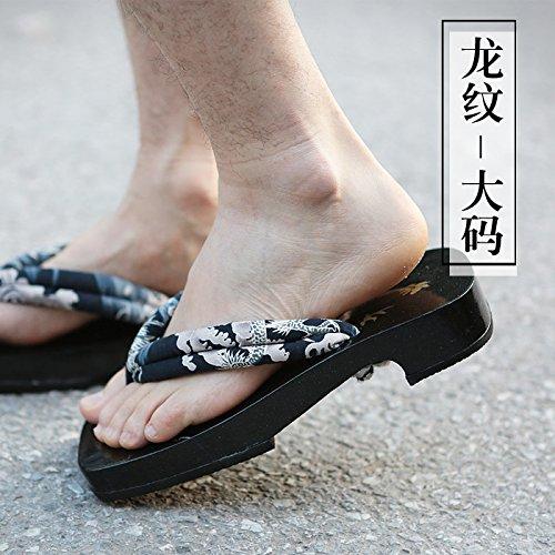 L Filo Laccato Drago Biancheria Nero Arco Legno Pelle 屐 Pantofole L'uomo Xing 2015 In Estate 39 Uomini Sandali In Zqc1CwT
