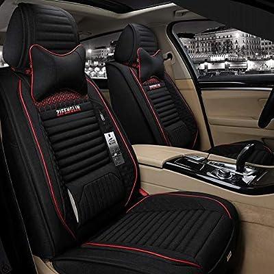 Para Nissan Micra Qashqai Nota Juke MPV 1+1 Tela Gris Fundas de los asientos delanteros