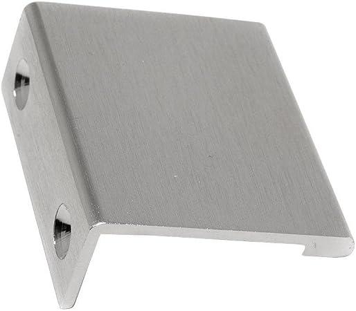 MODERN Tab Edge Finger Pull Furniture Hardware Polished Chrome Handle