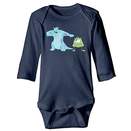 Boxer98 Newborn Cartoon University Long Sleeve Baby Climbing (Dead Baseball Player Costume)