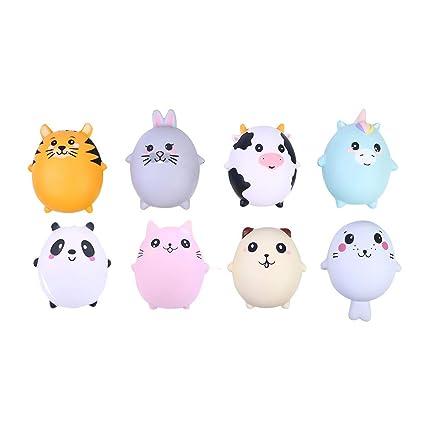 Amazon.com: Xuways - Juego de 8 juguetes esponjosos para ...
