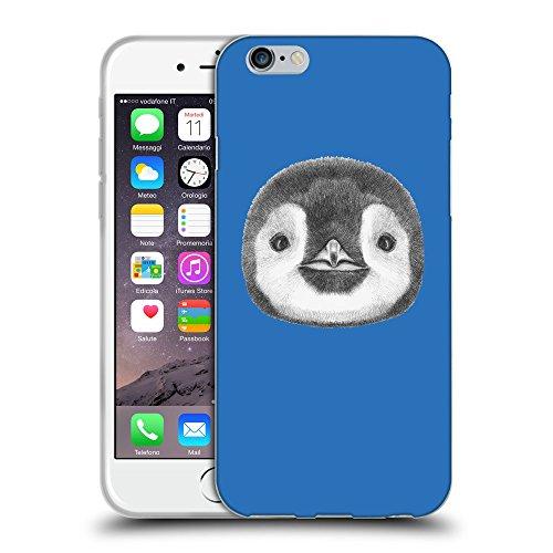 GoGoMobile Coque de Protection TPU Silicone Case pour // Q05310608 Visage pingouin Azur // Apple iPhone 7