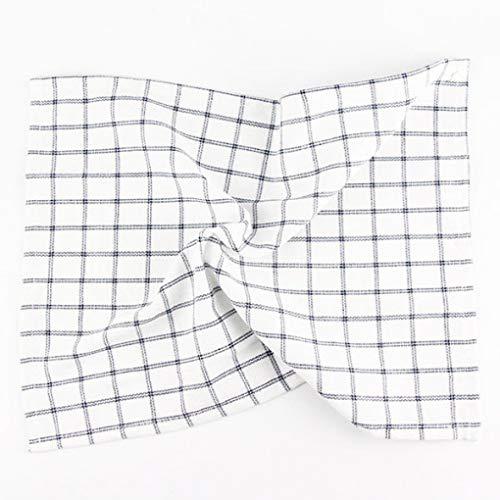 (RXIN 4pcs/lot 43X43cm Cotton Linen Napkins Square Plaid Stripe Dining Table Mat Napkin Fabric Table Placemats for Home,Kitchen)