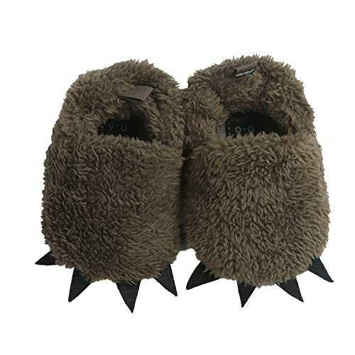 Vanbuy Baby Boys Girls Shoes Bear Paw Animal Slippers Boots Newborn Infant Crib Shoes WB28-Dark Green-L ()