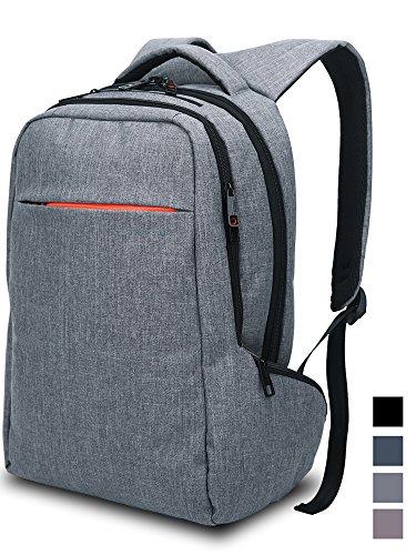 Norsens Computer Rucksack mit Fächern für bis zu 15,6-Zoll-Laptops/Notebook,Slim Rucksack dunkelgrau