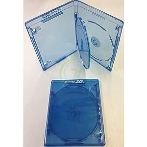 ECS Elitegroup - Elite BD - Carcasa para DVD (10 unidades, para 3 discos de 12,5 mm), azul