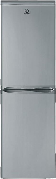 Frigorífico Combi - Indesit CAA 55 NX, 174 cm, A+, Capacidad 234 l, Inox