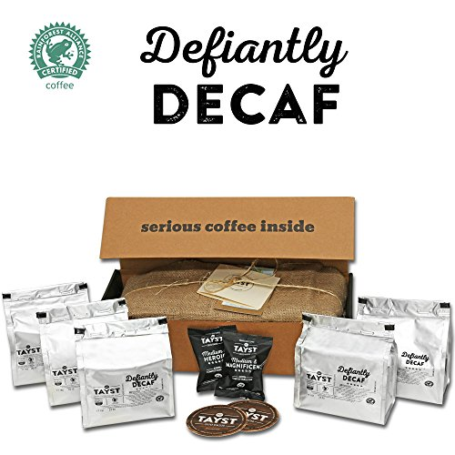 Tayst Decaf Coffee Pods | 50 ct. Defiantly Decaf | 100% Compostable Keurig K-Cup compatible | Gourmet Coffee in Earth Friendly packaging